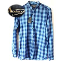 Camisa Pull And Bear Caballero Solo Talla L (inv Alnimed)