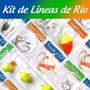 Kit De Líneas De Rio Variada Carpa Boga Dorado Tararira Peje