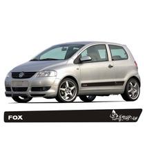 Kit Adesivo Faixa Lateral Detalhe Floral Para Vw Fox 03/