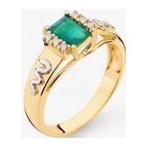 Anel Formatura Ouro 18k Pedra Natural E Diamantes, Grau