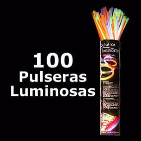 Fiesta Neón 100 Pulseras Neon Party Glow