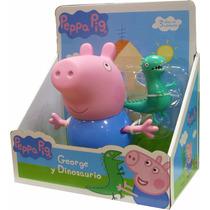 Peppa Pig Set Muñeco George Y Dinosaurio Original