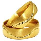 Par Alianças Ouro 18k Diamante 6mm 12 Gramas Frete Grátis