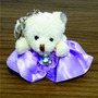 1 Chaveiro Ursinho Vestido De Seda Lindas Cores, Chá De Bebê