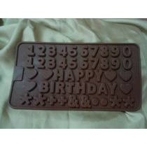 Molde Chocolatero Números, Happy Birthday, Signos...