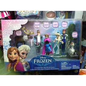 Frozen Set De Figuras Sven Elsa Anna Kristoff Hans Olaf