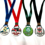 Medalha Personalizada De Metal Resinada P 3,5cm - Sem Mínimo