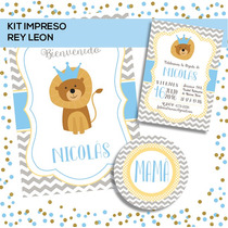 Kit Baby Shower / Cumple Primer Añito Nene Listo Para Usar