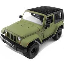 Jeep Wrangler 1:24 Jada 4x4 Willys Militar Cross Pick-up War