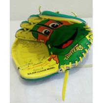 Vintage Remco, Tortugas Ninjas Guante Beisbol Años 90