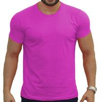 Kit 05 Camisetas Básicas Lisa Várias Cores 100% Algodão 30.1