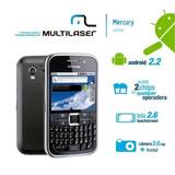 Multilaser Mercury Dual Chip, 2mp, Android 2.2,wifi Seminovo