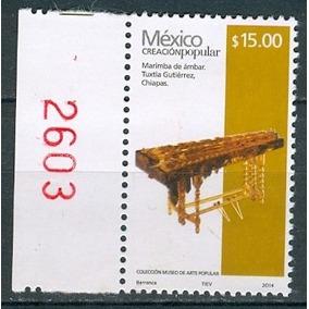 Sc 2504d Año 2014 Creacion Popular Marimba De Ambar 15 Pesos