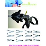 Pinza De Laparoscopia De 5mm X330mm Reutilizables