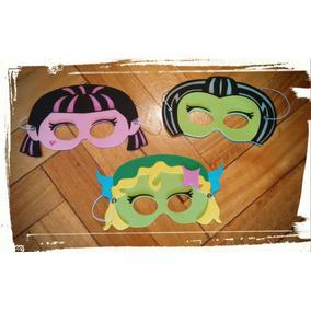 Antifaz Souvenir Infantil Goma Eva Monster High X 10