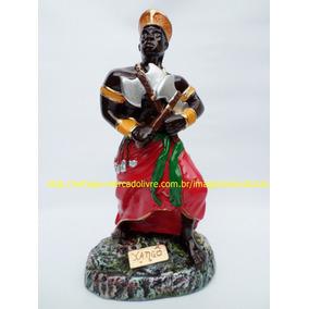Estatua Orixa Xango África Escultura 23cm Imagem Gesso Br