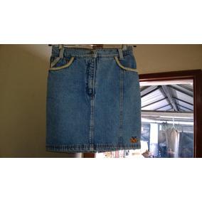 Pollera De Jeans Combustion Talle 16-contorno Cintura 74cm.