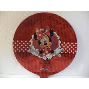Minnie Mouse Globos Metálicos 10 Pz Fiestas 9 Pulgadas Rojo