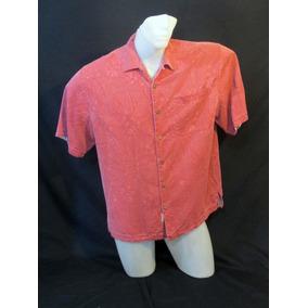 Lindíssima Camisa Jamaica Jaxx Seda Textura Importada M C112