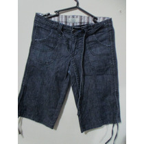 Ropa Dama Importada Bermuda Jeans 725 Original Talla 27