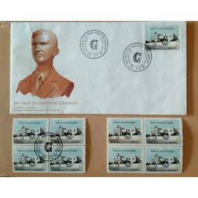 Lote De Selos E Envelope Comemorativo - 100 Anos Grambery