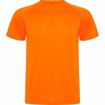 Polera Polo Drifit M/corta, Naranja Fluor