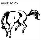Adesivo A125 Cavalo Branco Dando Coice Pulando Com As Patas