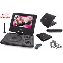 Dvd Player Portátil C/tv Digital E Jogos 7 Polegadas