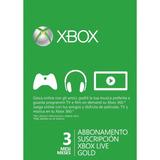 Xbox Live Gold - 3 Meses - Mejor Precio!!
