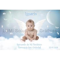 Tarjetas De Bautismo, Estampa Con Foto, Únicas 8x12 Cm