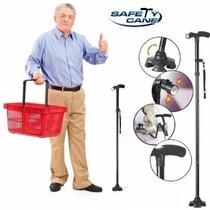 Baston Plegable Safety Cane Luces Led Seguro Base Articulada