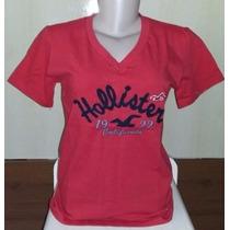 Baby Look Hollister Camiseta Feminina