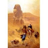 Deserto Árabes Tempestade Areia Pintor Fischer Pq Tela Repro