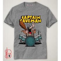 Camiseta Capitão Caverna - Desenho Animado- Bateria - Rock