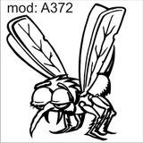Adesivo A372 Mosquito Mosca Pernilongo Dengue Inseto