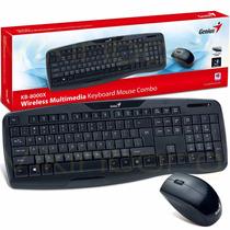 Kit Teclado Mouse Inalambrico Genius Kb 8000 Smartv