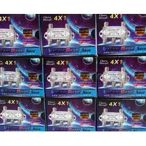 Kit Com 2 Chaves Diseqc 4x1 - Canais Hd - Marca Lenharo