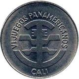 Moneda De 5 Pesos De Colombia De 1971 - En Niquel - Grande