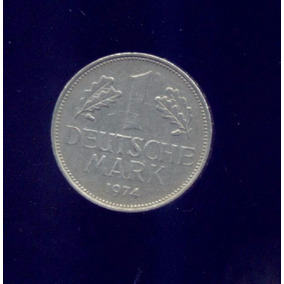 Alemania Moneda De 1 Deutsche Mark, Año 1974