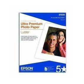 50 Hojas De Papel Fotografico Epson Para Impresoras De Tinta