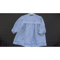 Vestidos Viyela, Blancos Para Bebas -primeras Medidas-