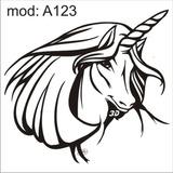 Adesivo A123 Rosto Cabeça Unicornio Com Chifre Na Cabeça