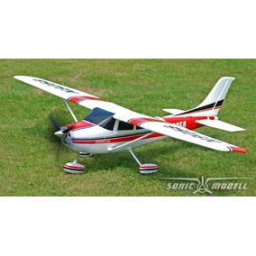 Aeromodelo Cessna 182 Eletrico Com 141 Cm Asa.