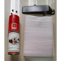 Filtro Ar Condicionado Com Tampa E Higienizador Clio Kangoo