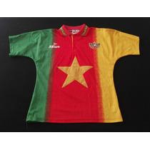 Selección Nacional De Camerún Mitre Rara De Época