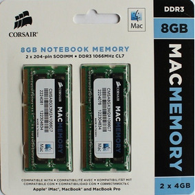 8gb 1067 / 1066 Apple Imac Macbook / Mac Pro Sodimm Corsair