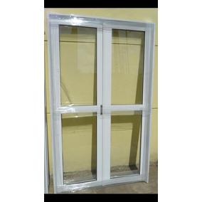 Puerta Doble Aluminio Blanco 180x200 Cm Entero C/cerradura