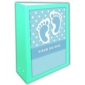 Álbum Do Bebê Pé Azul 15x21 - 200 Fotos + Brinde Especial