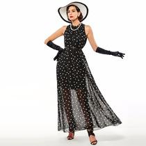 Vestido Feminino Longo Chiffon Sem Manga Casual Importado