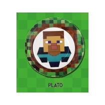 Platos Cartón X 8 Und. Minecraft